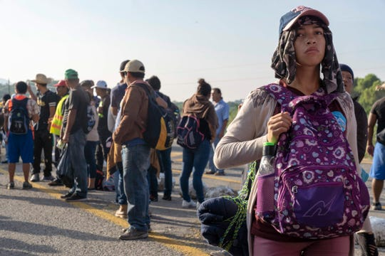 The caravan left at 3 a.m. but still has more than 30 miles to go before reaching Santiago Niltepec, in the state of Oaxaca.