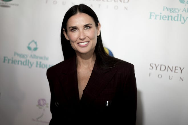 Demi Moore attends the Friendly House 29th Annual Awards Luncheon at the Beverly Hilton on Saturday, Oct. 27, 2018, in Beverly Hills, Calif.