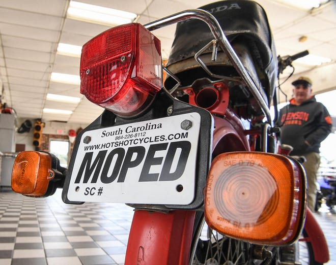 Paul Abercrombie, owner of Hot Shot Cycles on South Murray Avenue in Anderson has been selling mopeds since 1970, and says new laws for riders should be helpful.