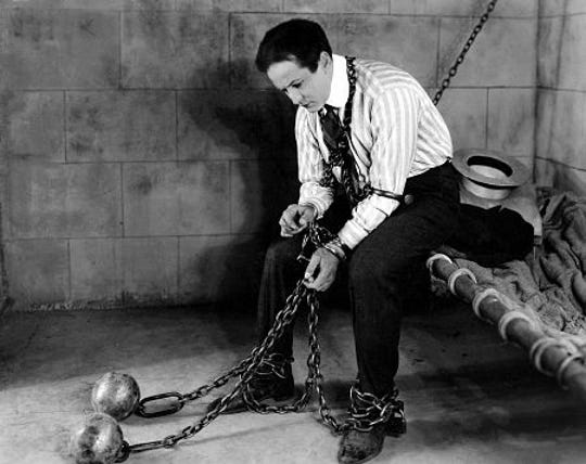 "Harry Houdini stars in ""The Grim Game."" The film was released in 1919 and for years was thought to be lost. It was tracked down in 2015 and restored."