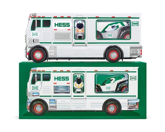 The 2018 Hess holiday truck and its box.