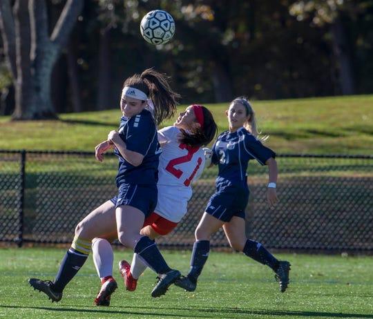 Manalapan Girls Soccer vs Marlboro in Marlboro, NJ on October 30, 2018.