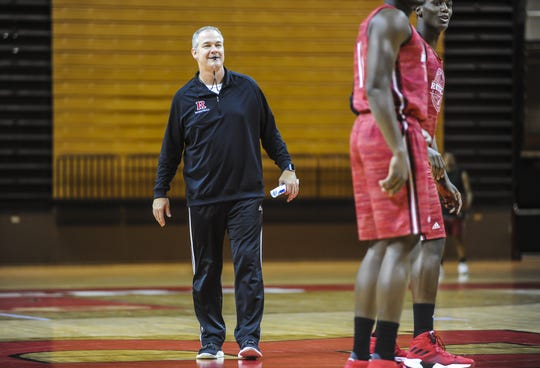 Rutgers men's basketball head coach Steve Pikiell during practice at Rutgers men's basketball media day at the RAC in Piscatawy on Oct. 30, 2018.
