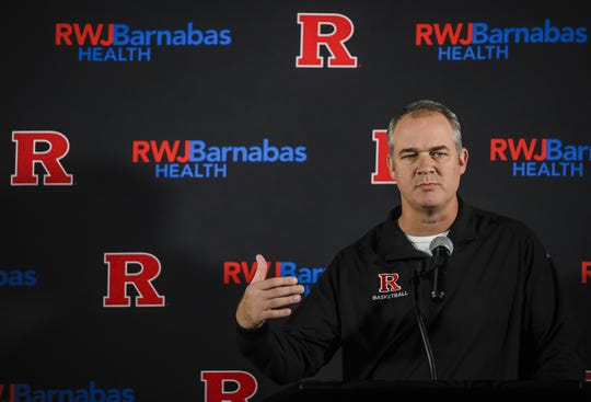 Rutgers men's basketball head coach Steve Pikiell addresses the media during the men's basketball media day at the RAC in Piscatawy on Oct. 30, 2018.