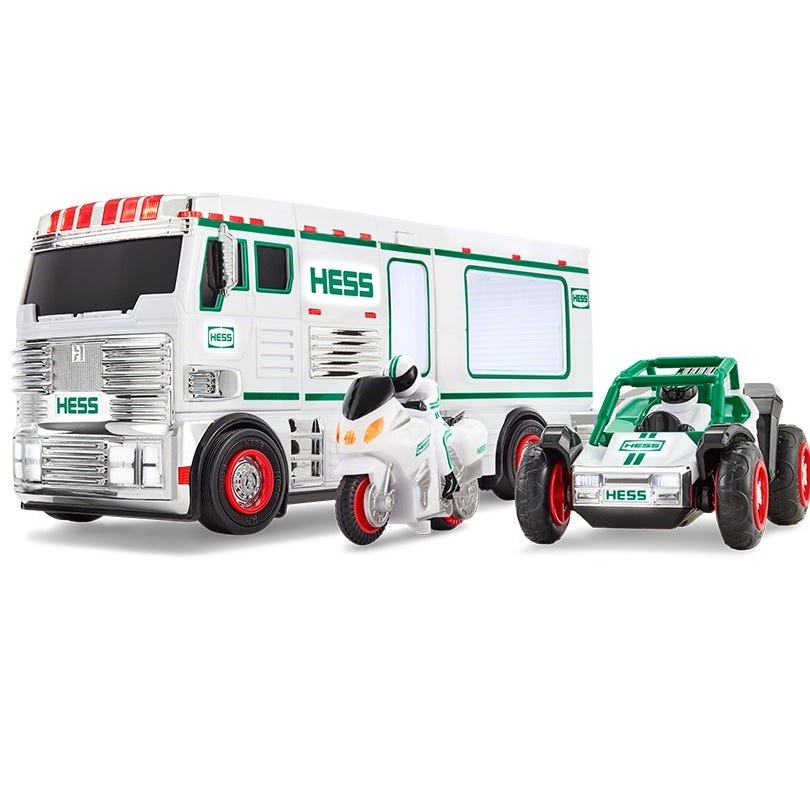 Hess truck 2018: Holiday toy on sale now! It's an RV with motorbike and ATV