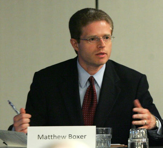 This June 2010 photograph shows then-Comptroller Matthew Boxer.
