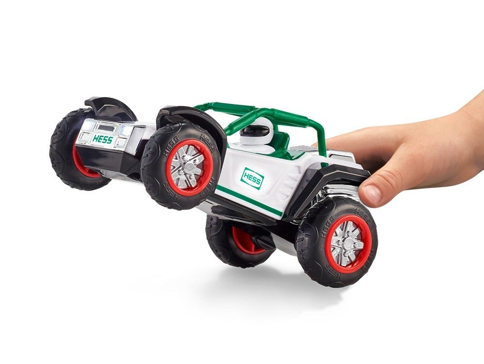 Here's the ATV that comes with the 2018 Hess holiday truck.