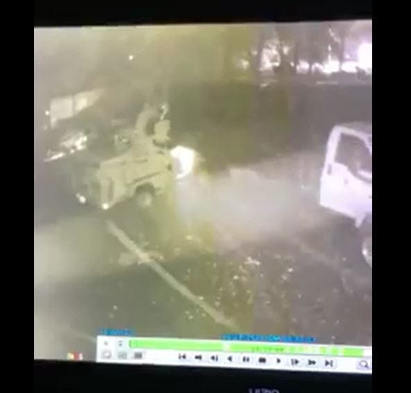 Toms River police are seeking leads on a stolen box truck. Still image from video courtesy Kyle Miller.