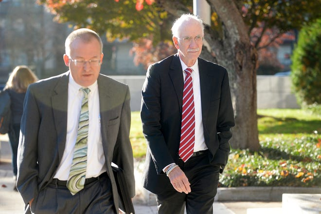 Jon Creighton arrives at the federal courthouse Oct. 30, 2018. A federal judge has eased restrictions on Jon Creighton's release and formally accepted a plea agreement between the former assistant Buncombe County manager and prosecutors.