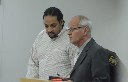 Trent Davis with his attorney David Goldstein.