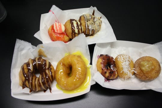 The JukeBox Donut Shop serves up both mini and large doughnuts.