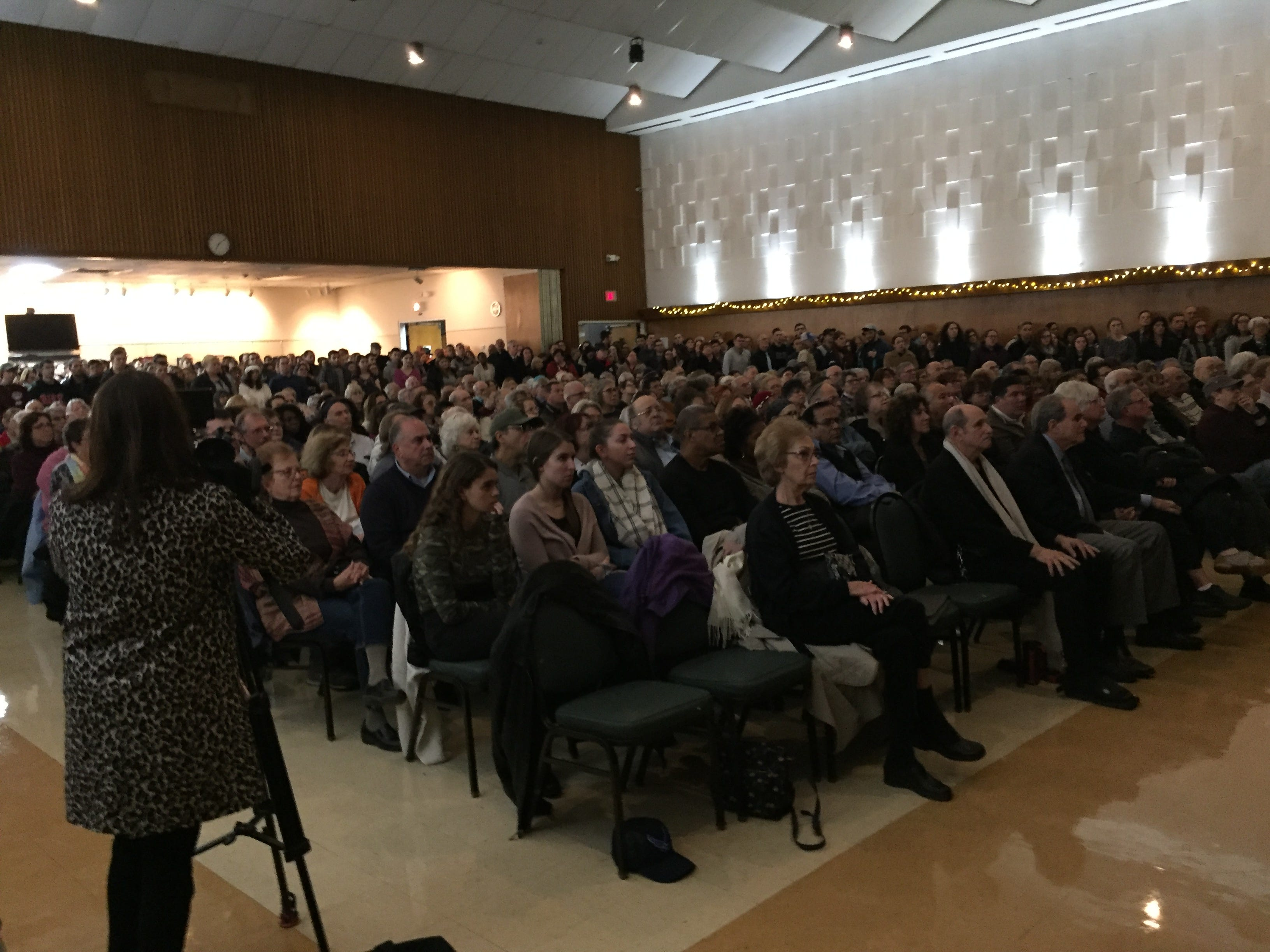 At least 750 people attended a vigil at the Jewish Community Center of Binghamton Monday following the shooting at the Tree of Life Congregation Synagogue in Pittsburgh.