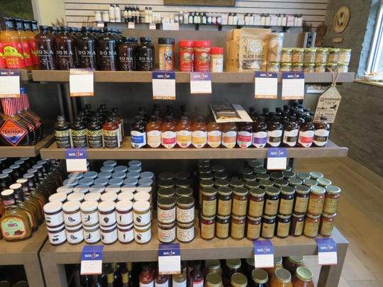 A sampling of the goods displayed in the Taste of NY store at the Southern Tier Welcome Center on Interstate 81 in Kirkwood.
