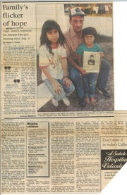 An November 26, 1989 Caller-Times article about the disappearance of Elisa Roberson.
