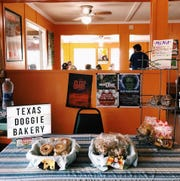 Texas Doggie Bakery sells its treats at Joint Venture on Fridays and Saturdays.