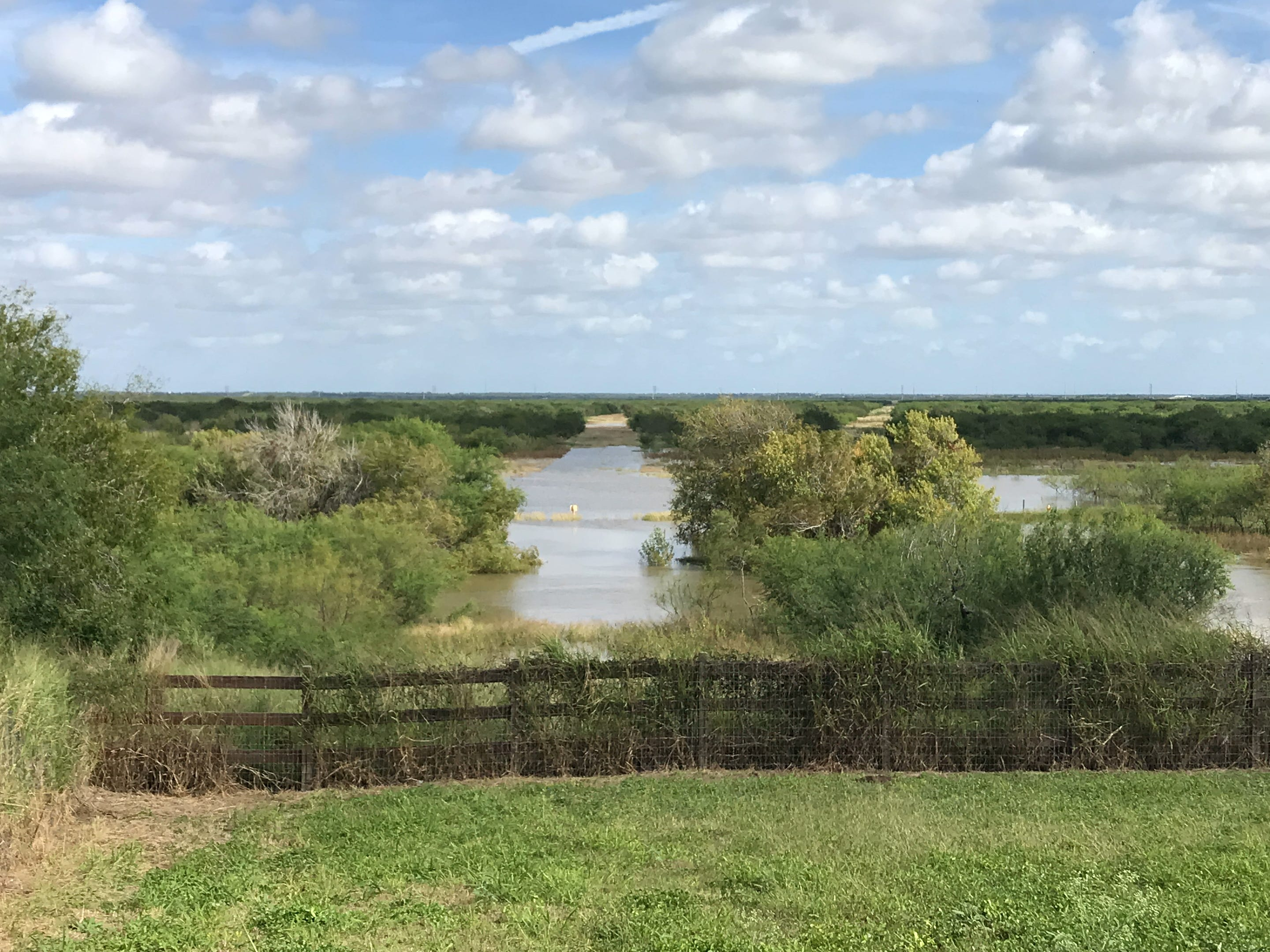 Nueces County officials cautioned residents about flood conditions from the Nueces River. Water approached homes on River Trail Drive in Corpus Christi on Tuesday, Oct. 30, 2018.