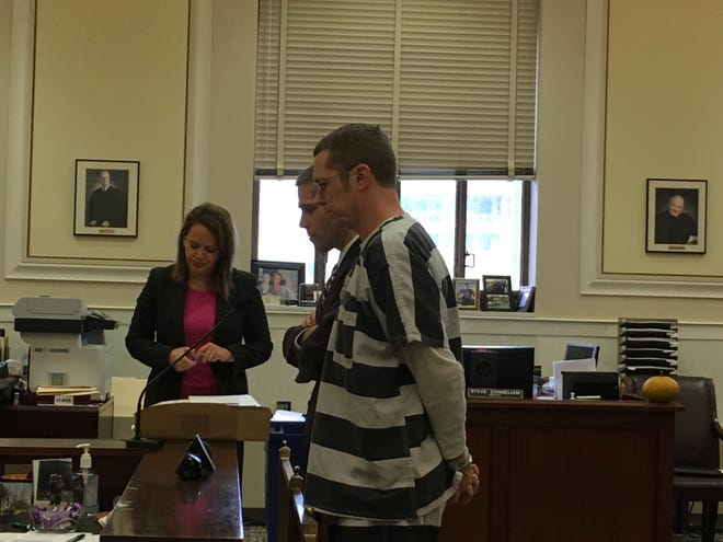 Scott Matthew Cook at his sentencing Tuesday, Oct. 30, 2018, in Hamilton County Common Pleas Court. Prosecutors said he forced a girl to engage in sex acts. She said he also made her watch him and his wife have sex.