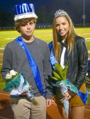 Terrier royalty -- Alex Pearson of Frenchtown and Trinity Perini of Holland Township were crowned Delaware Valley High School Homecoming king and queen on Oct. 19. Then the Terrier football team defeated Governor Livingston High School 35-28.
