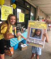 A team of students, led by Delaware Valley Regional High School senior Nicolena Giambrone, raise funds forchildren's cancer with The Lemon Club.