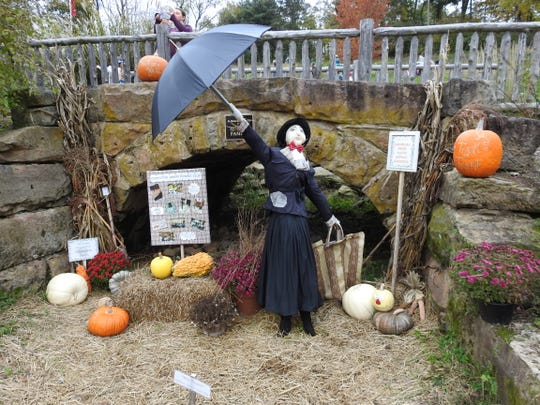 The Coshocton Junior Women's Club had a Mary Poppins inspired scarecrow display part of the Scarecrow Trail at Clary Gardens.