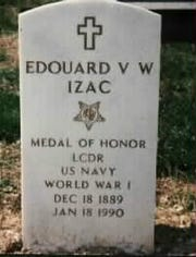 Edouard Izac of Cresco was captured by German U-boat. He earned the Congressional Medal of Honor. He is buried at Arlington National Cemetery.