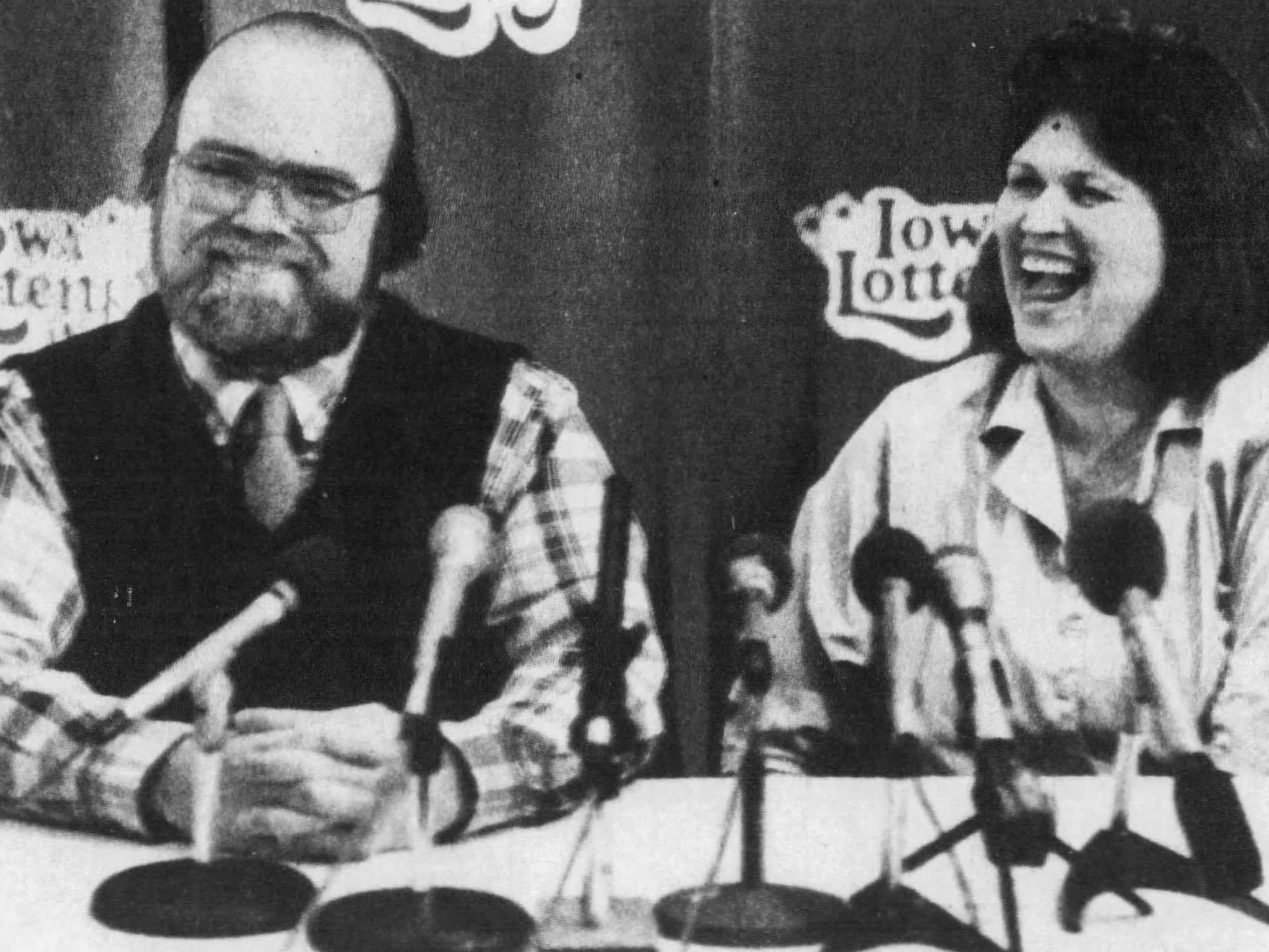 March 1990: Maquoketa's Allen, left, and Roice Earles won a Lotto America prize worth $19.64 million.