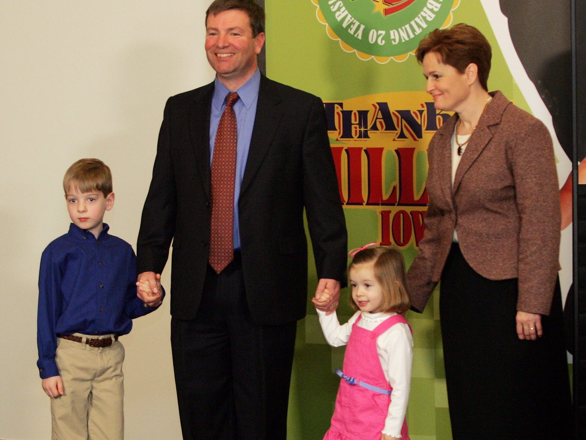 """January 2006: Des Moines' Hugh Hawkins won a Powerball jackpot prize worth $113.2 million. """"We are very, very fortunate,"""" said Hawkins, who appeared at a news conference with his wife, Cindy, their 3-year-old daughter Katie and 6-year-old son Alex. Hawkins said he had been on a business trip the week of the drawing and learned only days later that it was a winner. He had stopped at the Dahl's supermarket where he purchased it and heard people talking about a winner. He pulled the ticket from his pocket and asked the clerk to check it. """"Well, it was a match, and I haven't slept in two weeks,"""" Hawkins said."""