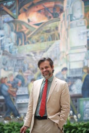 Salvador Salort-Pons, the director of the Detroit Institute of Arts, photographed in the Rivera Court at the museum in Detroit on Tuesday, Oct. 6, 2015.