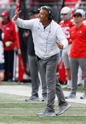 Meyer, who was suspended for three games to start the season and has been slowed by headaches caused by a cyst, has been the subject of talk around the college football world that he may retire after the season.