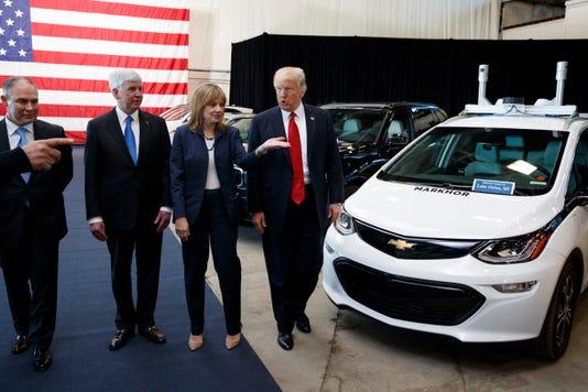 Donald Trump Scott Pruitt Mary Barra Rick Snyder