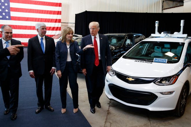 """President Donald Trump said Thursday that General Motors Co. CEO Mary Barra's decision to idle five plants, lay off 6,000 salaried employees and imperil the jobs of 3,300 hourly workers was """"nasty."""""""