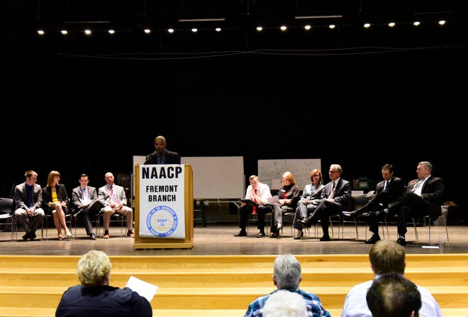 The Fremont NAACP Branch held a Candidates' Night Tuesday at Fremont Middle School. It was one of the last public forums for area political candidates to make their appeal to local voters ahead of the Nov. 6 general election.