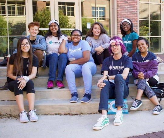 A group of FSU student mentors at the FSU retreat mentor training.