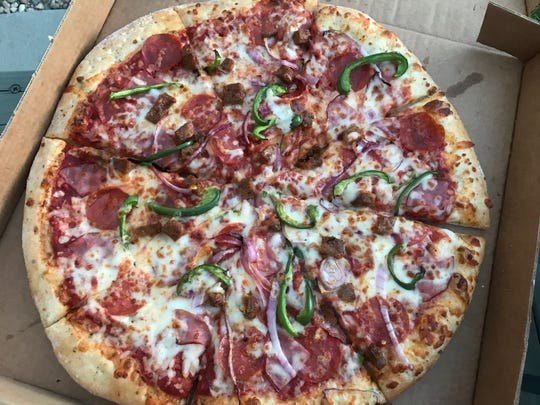 The House pizza from Mama Roni's Pizza in Fort Collins.