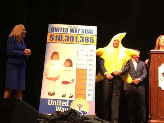 United Way co-chair Bob Shearman gets caught in the spirit by dressing as a starfish during the 2018-19 kickoff on Tuesday.