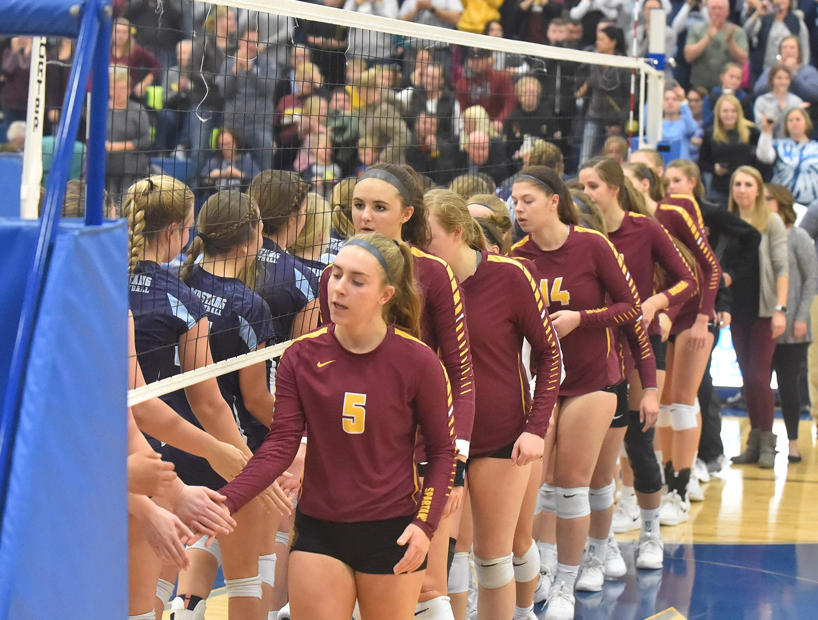 Game ends with Little Chute advancing to state at the WIAA Division 2 sectional final against Luxemburg-Casco on Oct. 27, 2018, in Wrightstown. Tina M. Gohr/USA TODAY NETWORK-Wisconsin