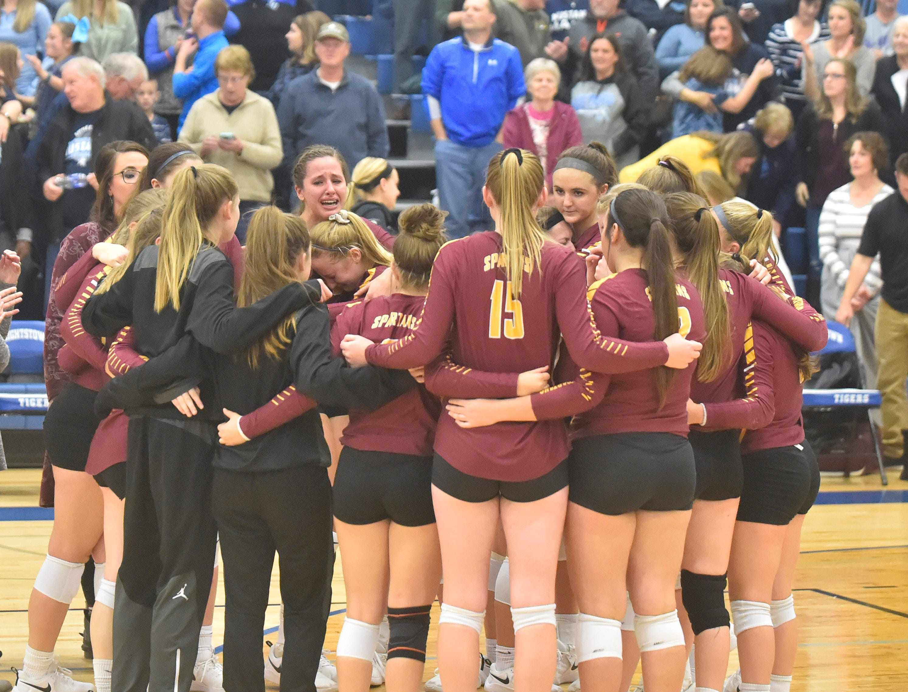 Luxemburg-Casco hearts are heavy after losing to Little Chute at the WIAA Division 2 sectional final n Oct. 27, 2018, in Wrightstown. Tina M. Gohr/USA TODAY NETWORK-Wisconsin
