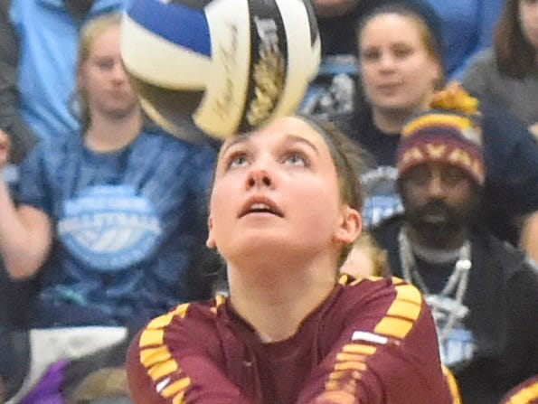Claire Coppens of Luxemburg-Casco at the WIAA Division 2 sectional final against Little Chute on Oct. 27, 2018, in Wrightstown. Tina M. Gohr/USA TODAY NETWORK-Wisconsin
