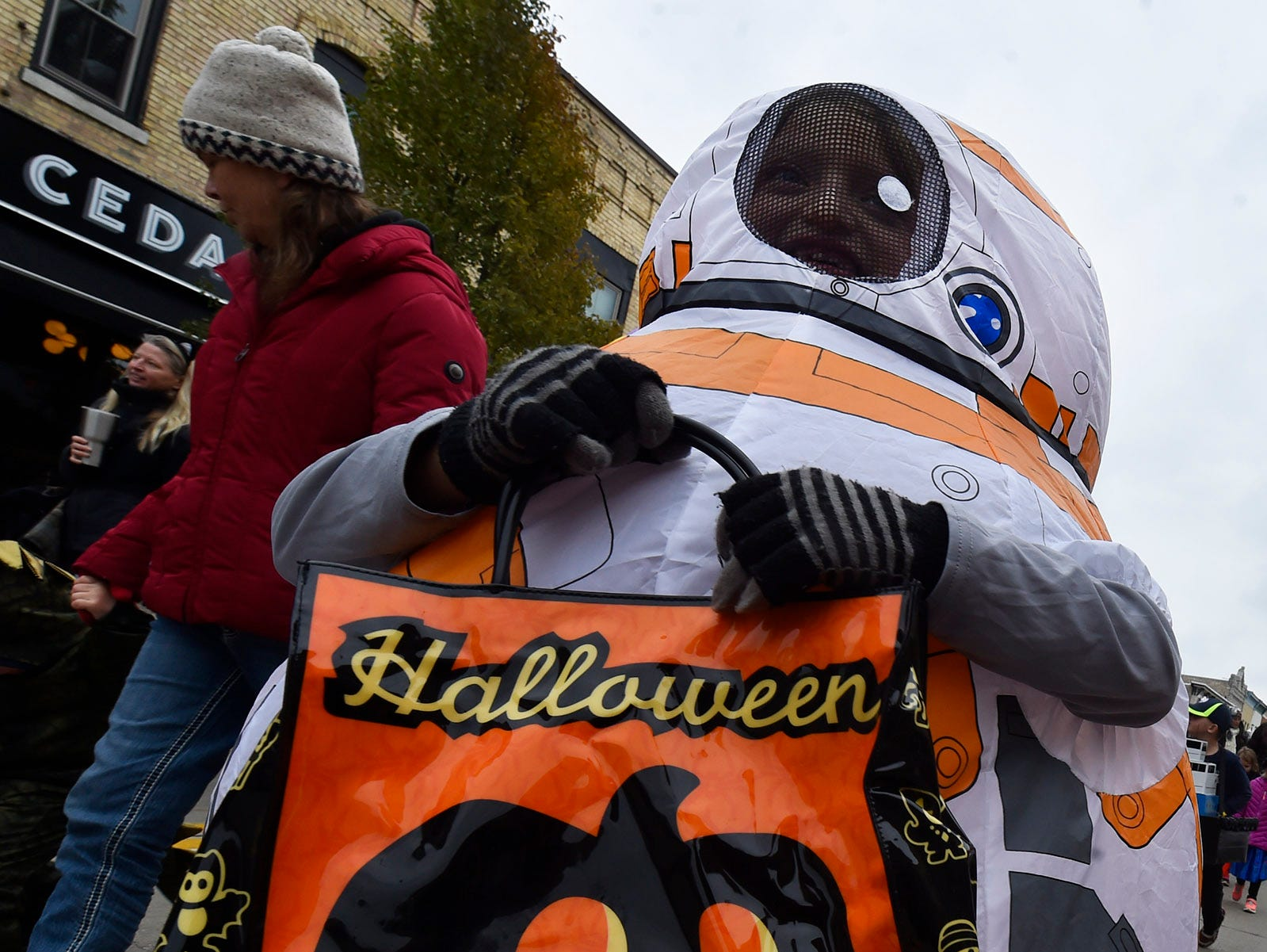 Hannah Denil is Star Wars character BB-8 at Thrills on Third costume parade on Saturday, Oct. 27, 2018, in Sturgeon Bay. Tina M. Gohr/USA TODAY NETWORK-Wisconsin