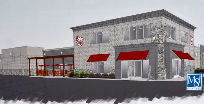 The Piggy Wiggly Store in Sister Bay held a groundbreaking Oct. 29, 2018, for an expansion project that is expected to be completed in May. The approximately 10,000 square foot addition will be constructed on the east side of the building at 10576 Country Walk Drive. It will also include an expanded entrance and facade as shown in the artist rendering. Photo of print by Tina M. Gohr/USA TODAY NETWORK-Wisconsin