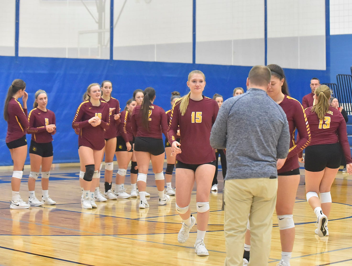 Luxemburg-Casco receives runnerup medals at the WIAA Division 2 sectional final on Oct. 27, 2018, in Wrightstown. Little Chute advances to state. Tina M. Gohr/USA TODAY NETWORK-Wisconsin