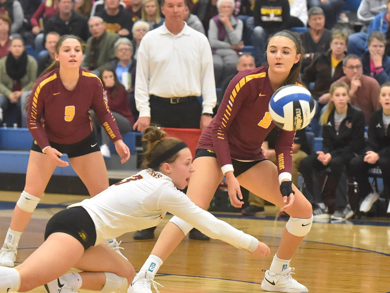 Amanda Miceli of Luxemburg-Casco at the WIAA Division 2 sectional final against Little Chute on Oct. 27, 2018, in Wrightstown. Tina M. Gohr/USA TODAY NETWORK-Wisconsin