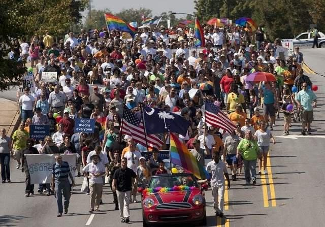 The 10th annual Upstate Pride SC March & Festival will begin at noon on November 3 in Spartanburg