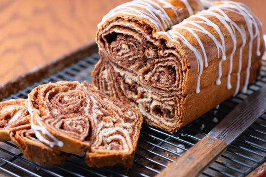 Povitica is an Eastern European specialty. The bread embraces all the tastes of the holidays with cinnamon and nuts all rolled up to make a showy and tasty holiday treat.
