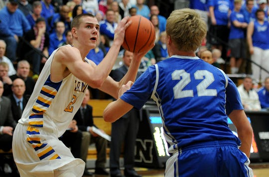 Zach McRoberts (left) was a do-everything player for Carmel, helping the Greyhounds win two state titles.
