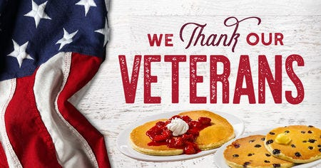 picture relating to Huddle House Coupons Printable identified as Veterans Working day free of charge food 2018: Freebies, specials and personal savings