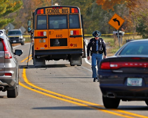 Three Young Children Were Killed And A Fourth Critically Injured In Rochester In When Struck By A Pickup Truck As They Crossed A Street To Get On The School Bus