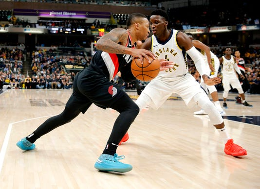 Nba Portland Trail Blazers At Indiana Pacers