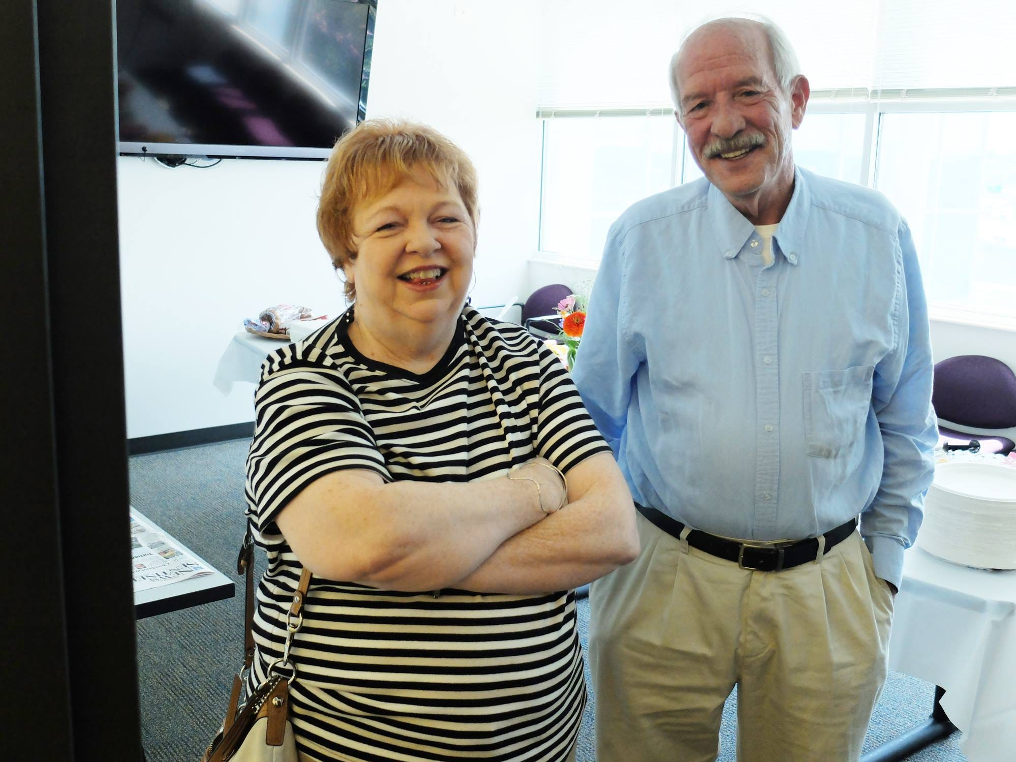 Retired political reporters Rebecca Ferrar and Tom Humphrey, who covered Tennessee Capitol Hill from Nashville for the News Sentinel for years.