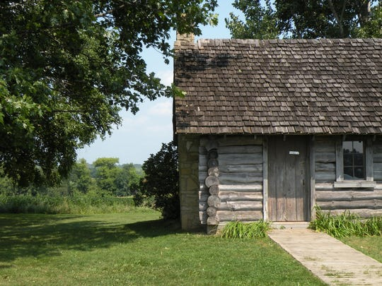 "Near the village of Pepin, Wisc, the Little House Wayside sits on a three-acre plot where author Laura Ingalls Wilder was born in 1867. Life in Wisconsin was described by the author in the book ""Little House in the Big Woods."""